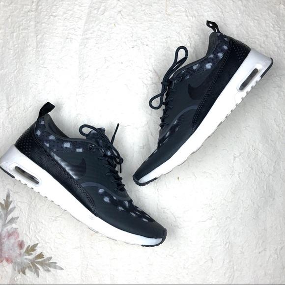 Nike Air Max Thea Sneakers Gray Leopard Print